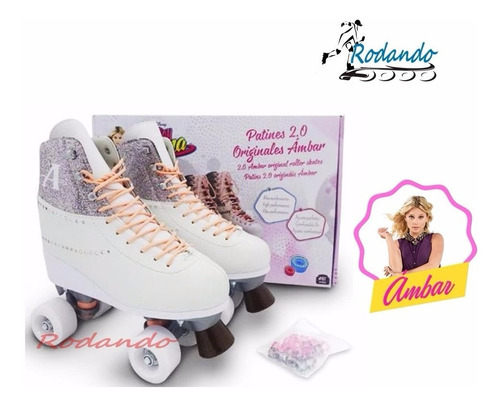 patines soy luna ambar- disney original+ 20 adornos ¡ nuevo!