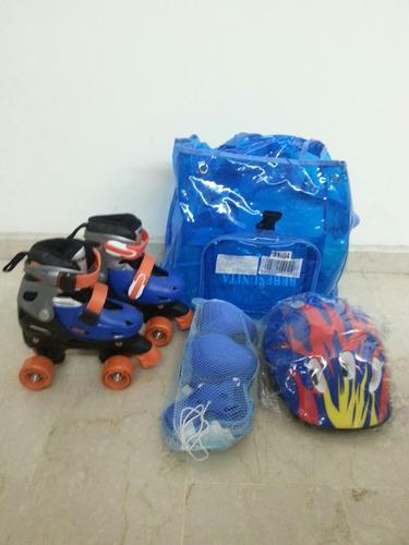 patines talla 28 a 32 ajustable cuatro ruedas