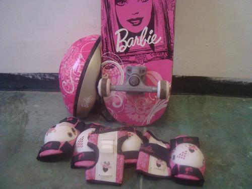 patineta barbie