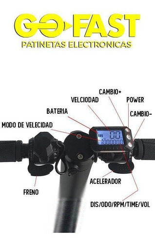 patineta eléctrica go fast