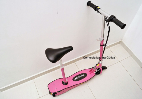 patineta eléctrica scooter silla 80 kg monopatin plagable