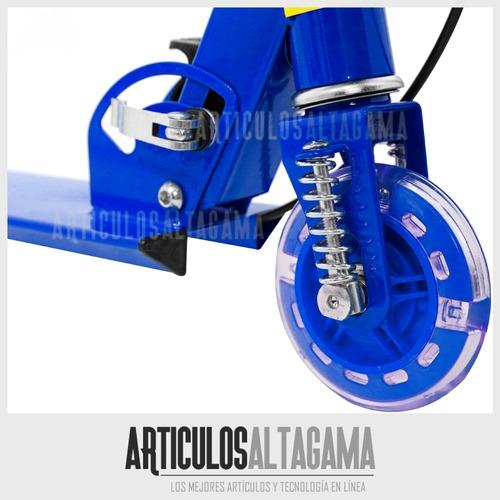 patineta monopatín scooter plegable 3 llantas luces timbre