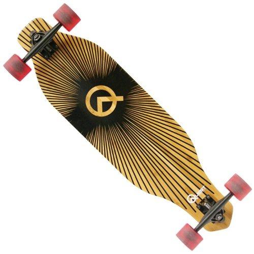 patineta quest fórmula uno  skateboard (34,5 pulgadas) negr