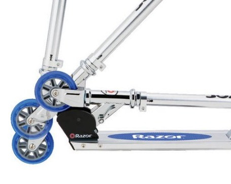 patineta razor spark scooter blue