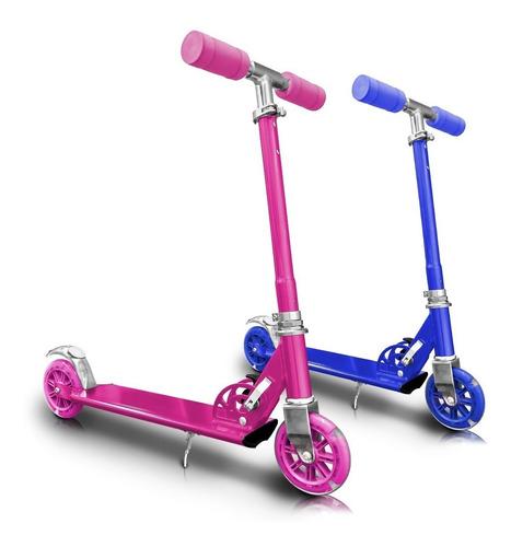 patineta rosada monopatin metalizada scoter bicicleta