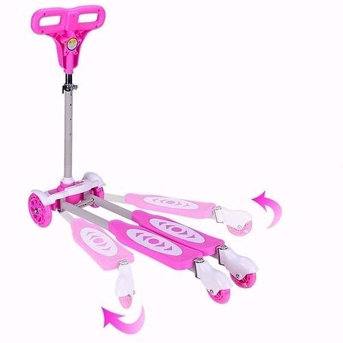 patineta scooter monopatin mariposa tijera azul rosada luces