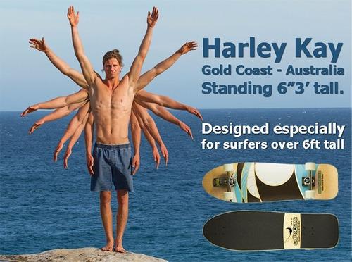 patineta smoothstar :manta ray 35.5 carver surf