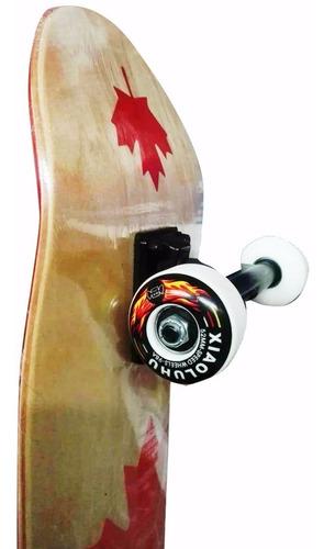 patineta tabla pino canadiense 6 lineas skate 80 kg mite
