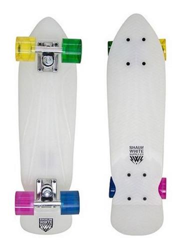 patineta tipo penny plastico 22x6 pulg. abec 5 shaun white