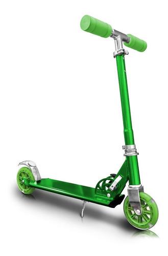 patineta verde monopatin metalizada scoter bicicleta