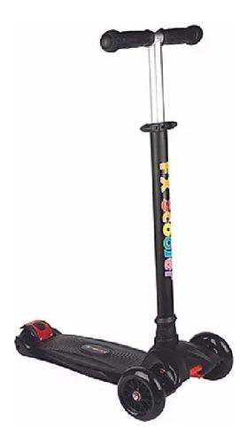 patinete 3 rodas scooter net max racing 100 kilos preto