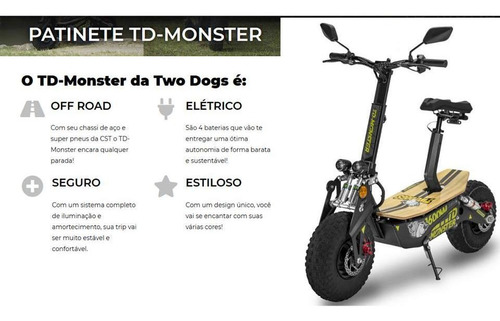patinete elétrico two dogs td-monster