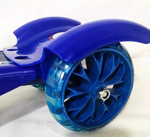 patinete infantil 3 rodas homem aranha luz musical scooter