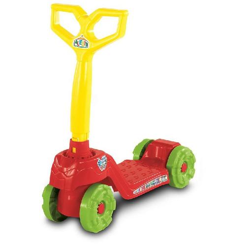 patinete infantil 4 rodas vermelho calesita 916 inmetro