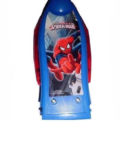 patinete infantil com cesta homem aranha + luz + som