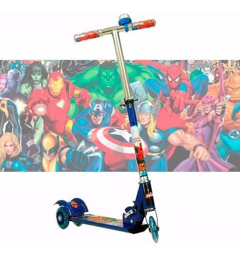 patinete infantil homem aranha 3 rodas mod 2019 p.entrega