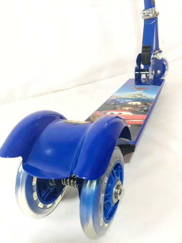 patinete infantil mcqueen - carros - alumínio