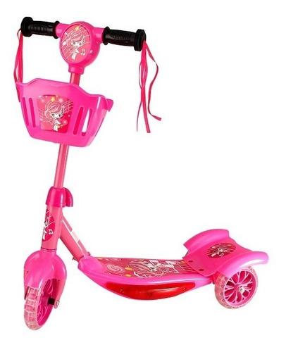 patinete infantil musical  3 rodas com luzes