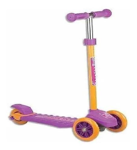patinete radical três rodas roxo - fênix