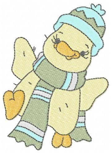 patinhos quack 001 - coleção de matriz de bordado