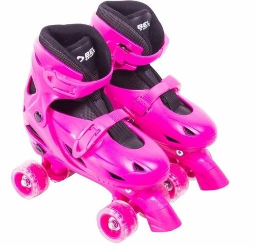 patins 32, 33, 34, 35 clássico roller 4 rodas bel fix 368500