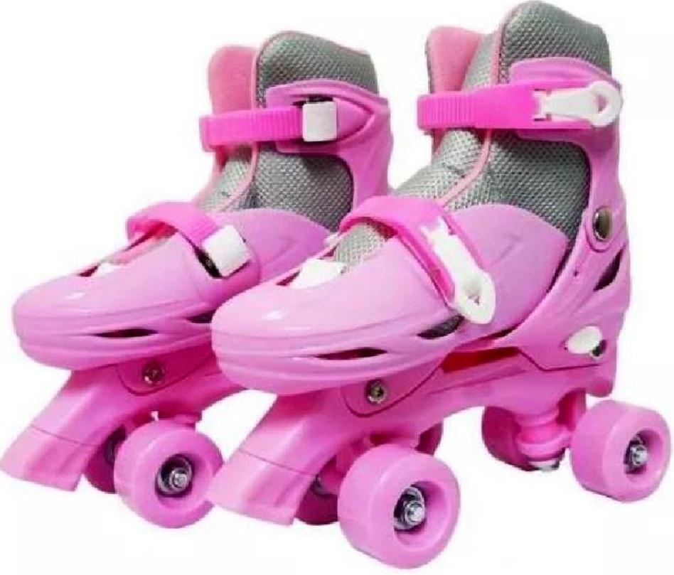 30ba9f7281d patins 4 rodas ajustável roller clássico quad rosa feminino. Carregando zoom .
