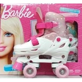Patins Ajustável Tamanho 30 - 33 Quad Barbie