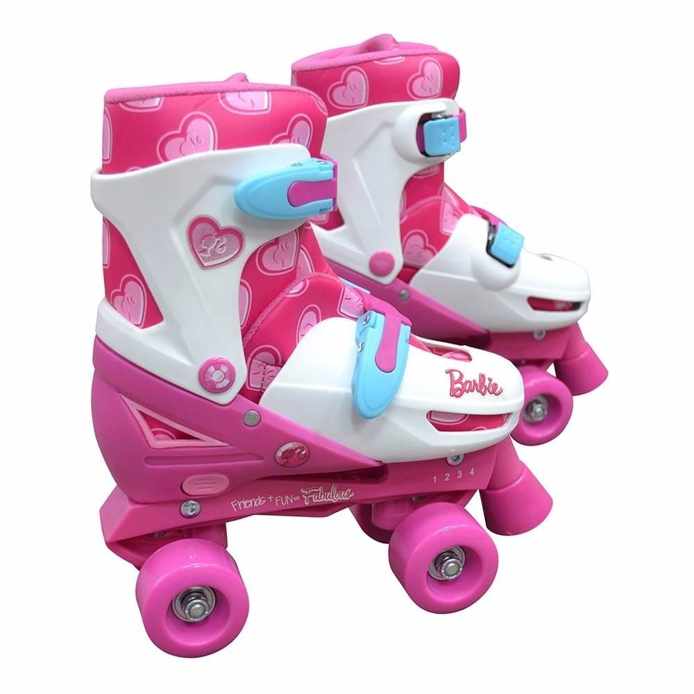 b1f5d20d774 patins ajustável tamanho 30 - 33 quad barbie. Carregando zoom.