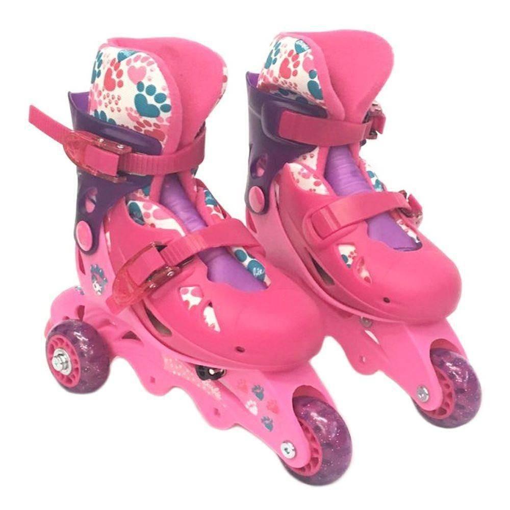 99e61d3e6 Patins Barbie Roller 3 Rodas 29 Ao 32 Ajustavel + Acessorios - R ...