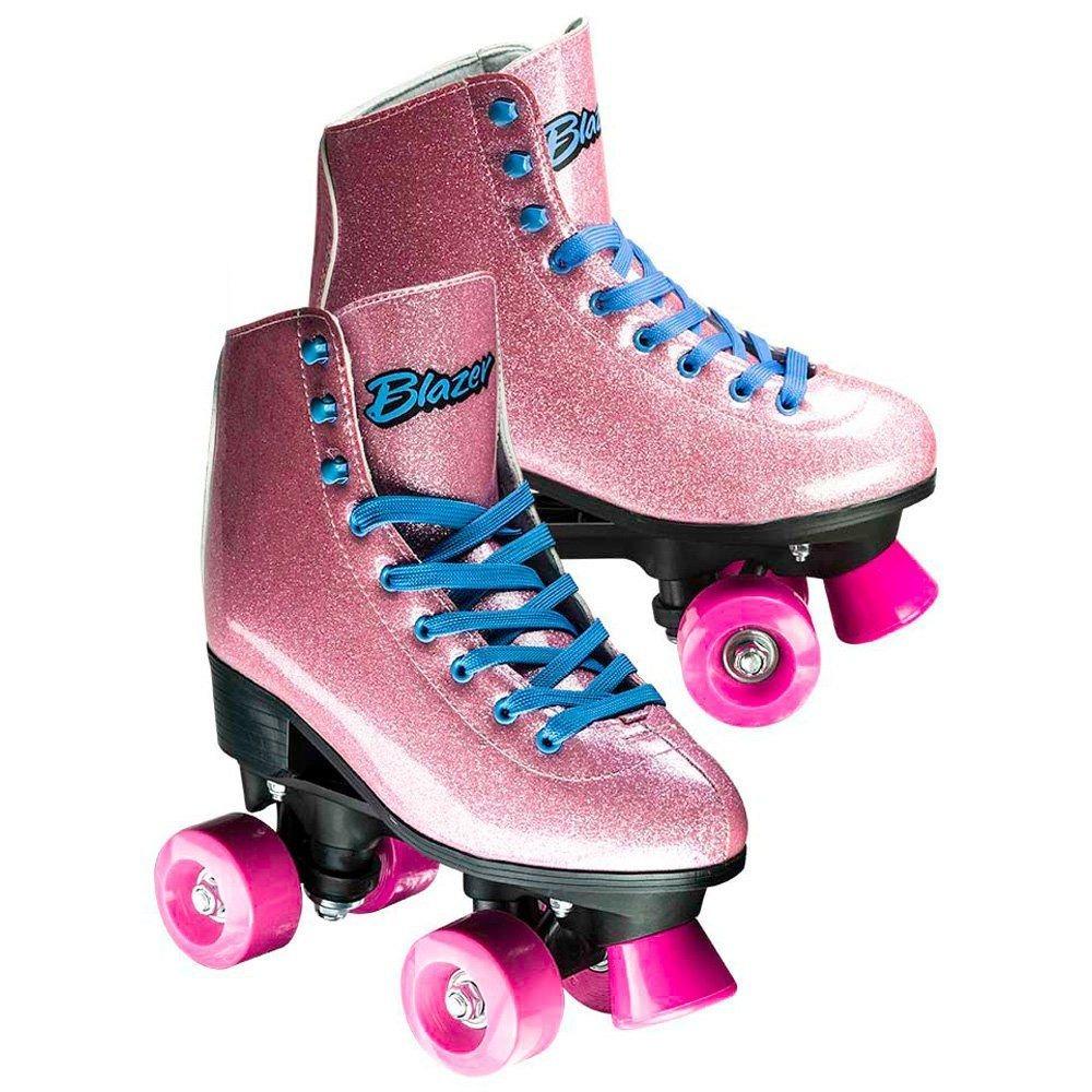 a759ac5f5 Carregando zoom... com rodas patins. Carregando zoom... patins infantil  feminino rosa com gliter n°34 - 4 rodas