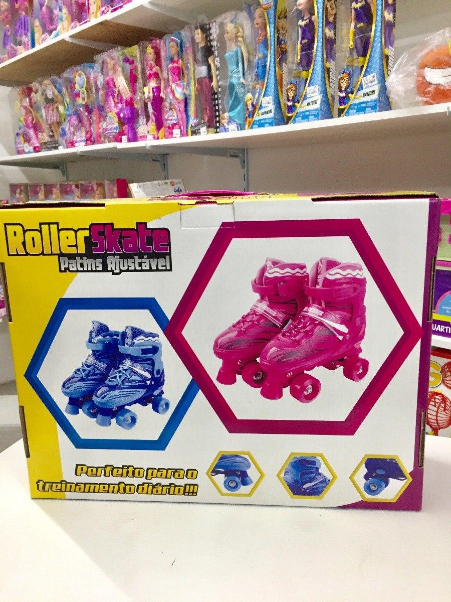 ed9f7754db0 patins infantil ajustável meninas rolamento 31 34 roller sk8. Carregando  zoom.