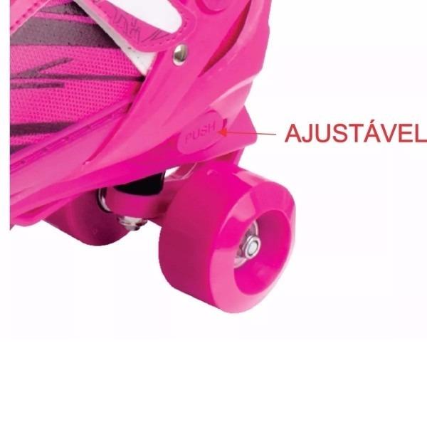 931f3332ae0 Patins Infantil Ajustável Meninas Rolamento 31 34 Roller Sk8 - R ...