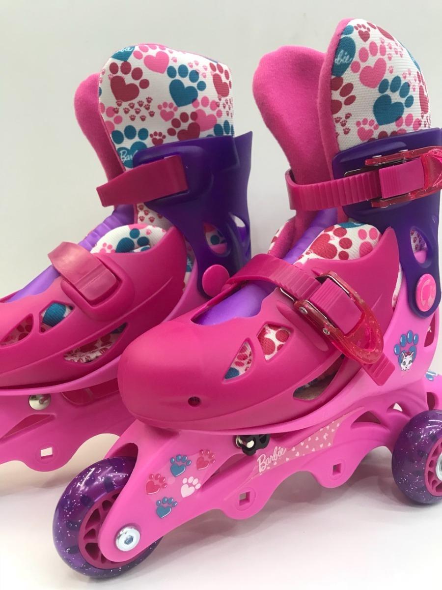 712bf4825 patins infantil barbie 29 a 32 c  3 ou 4 rodas kit proteção. Carregando  zoom.