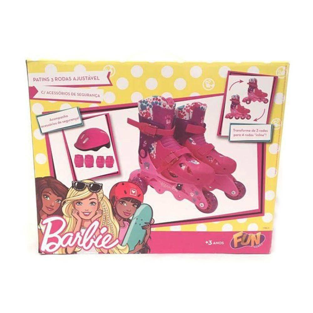 52f1d3160 patins infantil barbie 29 a 32 com 3 ou 4 kit proteção fun. Carregando zoom.