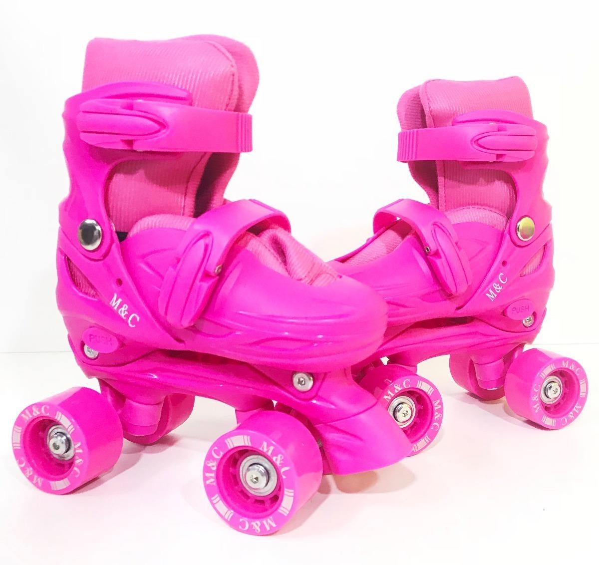 67ec64a50 patins infantil feminino + acessórios 4 rodas - roller. Carregando zoom.