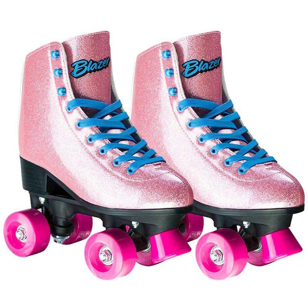d4f4ab28c patins infantil feminino rosa com gliter n°34 - 4 rodas. Carregando zoom.