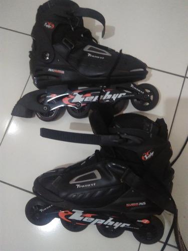 patins inline traxart zephyr usado 10 vezes mais acessórios