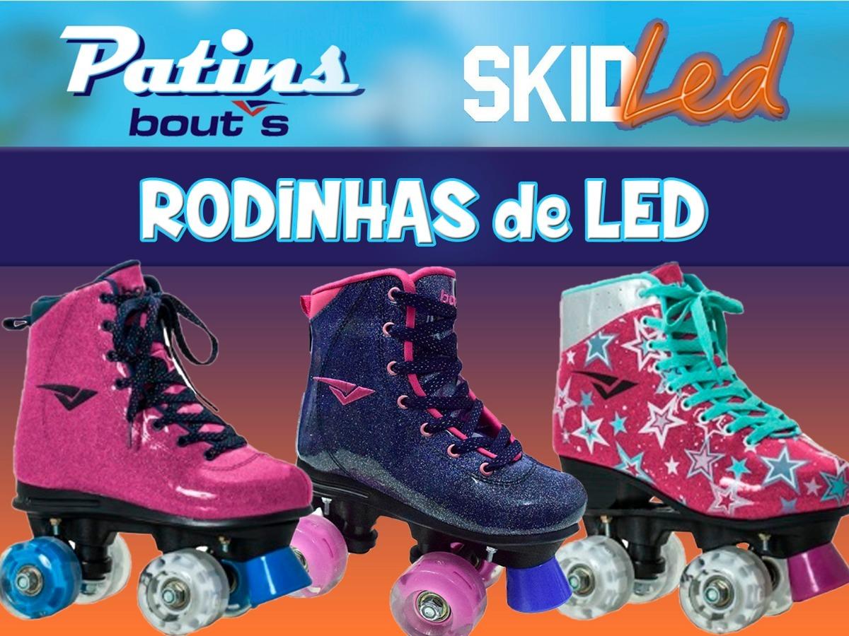d0c74919d28 patins led várias cores + rodinhas com led bouts. Carregando zoom.