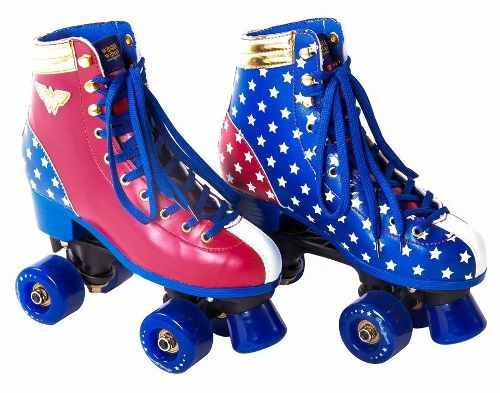 patins mulher maravilha retrô clássico  a mais vendida