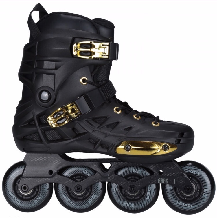 47d3eb12acf Patins Oxer Darkness Gold - In Line - Freestyle - Abec 7 - R  399
