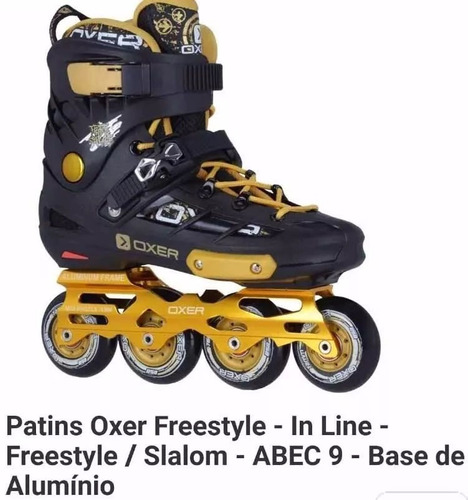 patins oxer freestyle nº 42