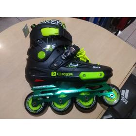 Patins Oxer Freestyle Preto/verde Numero 35