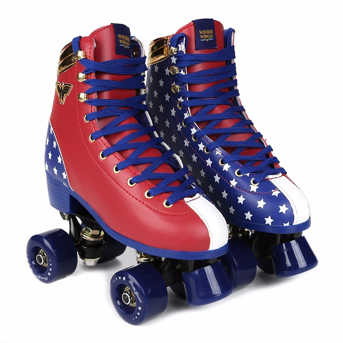 ea1cf3e49a9 patins quad mulher maravilha   envio super expresso. Carregando zoom.