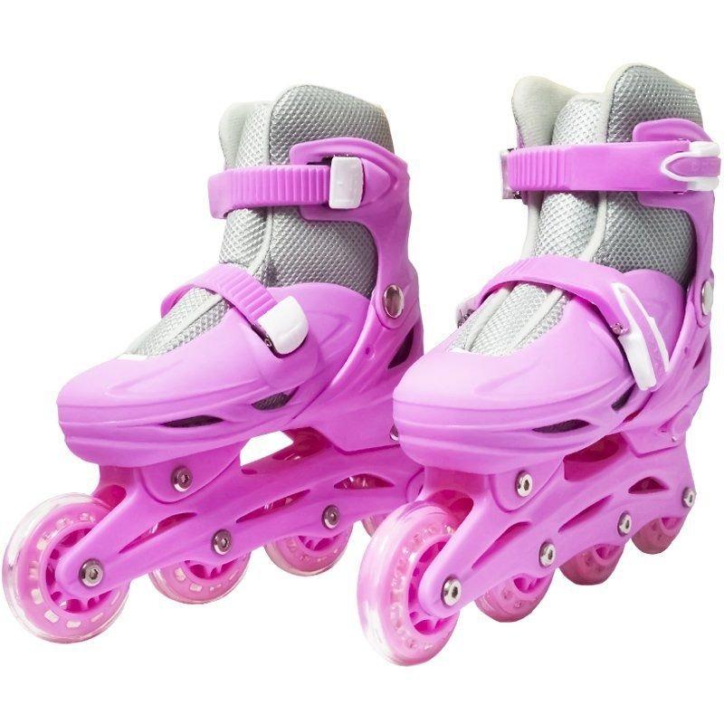 159e34883 Patins Roller In Line Infantil 4 Rodas Feminino 29 30 31 32 - R  131 ...