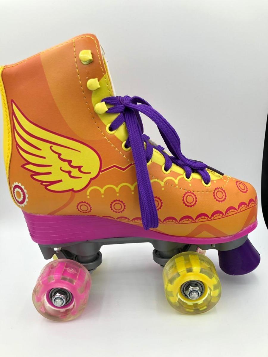9f6a37b17 patins roller retro clássico 30 ao 36 sou luna c asas + nfe. Carregando  zoom.
