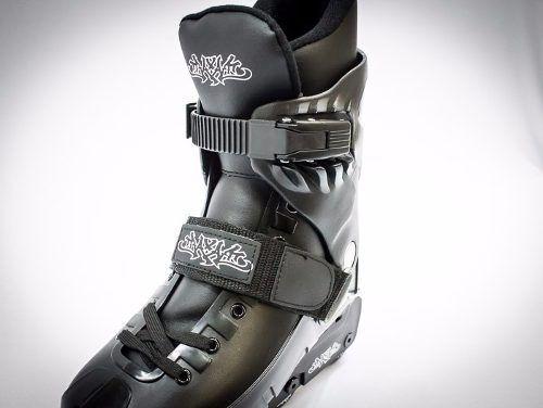 patins  roller traxart txt street preto agressive manobras