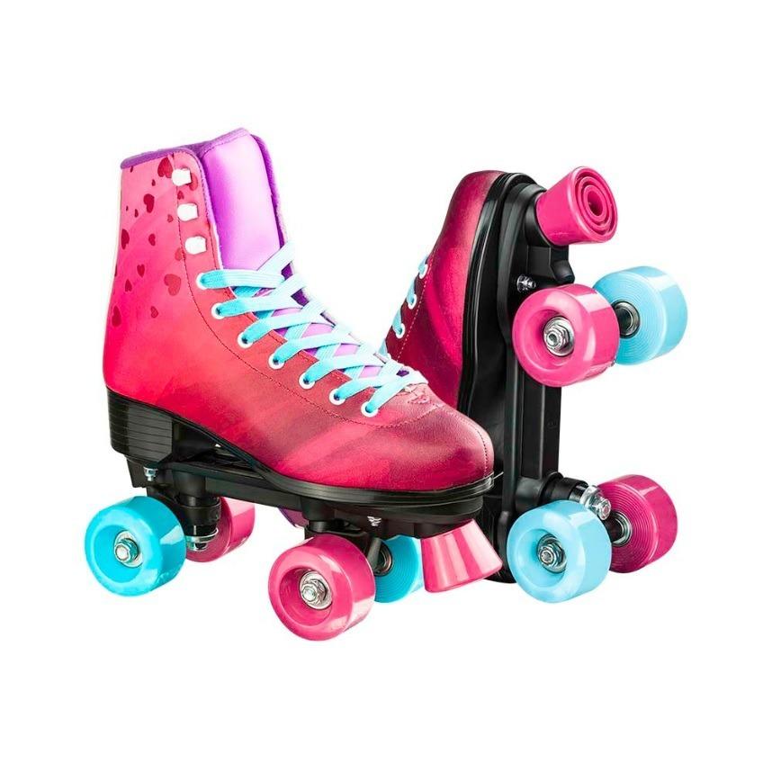 a48e993d593 patins rollers 4 you quad 4 rodas criança menina rosa. Carregando zoom.