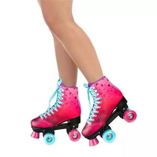 patins rollers quadro rodas  tradicional 37