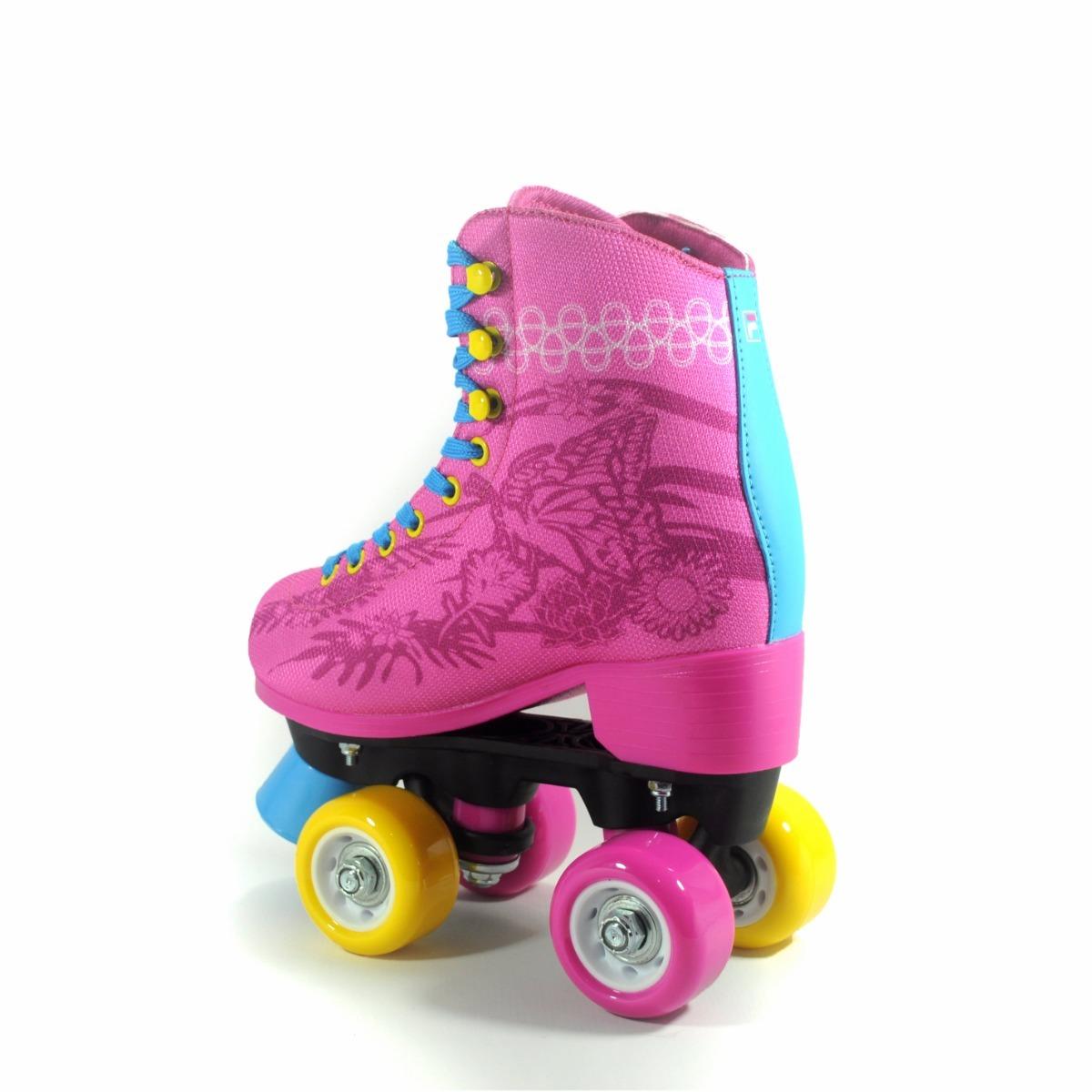 1407cbd94 patins rosa quad fila juliet - infantil - roller. Carregando zoom.