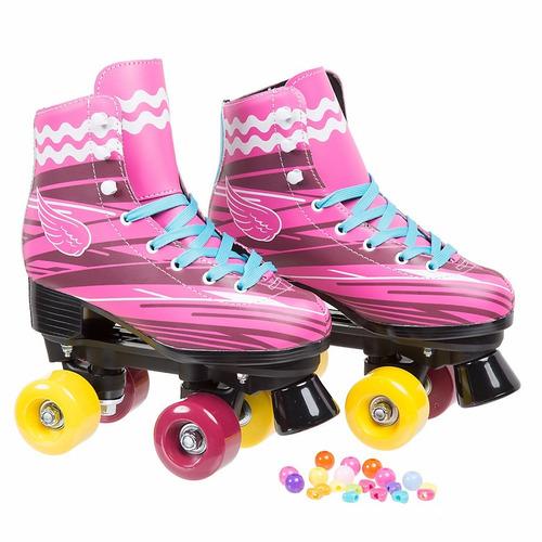 patins sou luna 4 rodas roller feminino tamanho 34 r. Black Bedroom Furniture Sets. Home Design Ideas